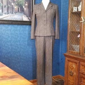 Dress Barn Tweed 10 Pant Suit Jacket Blaze…
